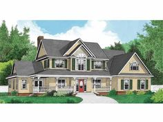 This plan is great so far! Country House Plan with 2792 Square Feet and 4 Bedrooms(s) from Dream Home Source | House Plan Code DHSW66039