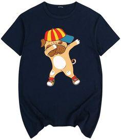 Camiseta de bulldog inglés bailando hip-hop en color azul marino y manga corta Bulldogs, Baile Hip Hop, Unisex, Onesies, Kids, Baby, Clothes, Fashion, English Bulldogs