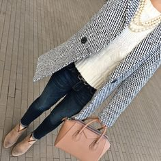 Tweed and cable knit sweater #ootd http://liketk.it/2pPz1 @liketoknow.it #liketkit