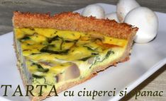 tarta-ciuperci Quiche, Sandwiches, Cooking Recipes, Foods, Breakfast, Decor, Pie, Food Food, Breakfast Cafe