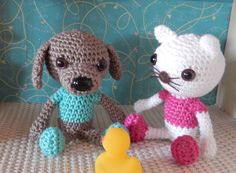9/14/14  Murphy the dog for the Miniami house - link to free pattern