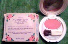 "Avon ""A Certain Look"" ""BlushPetite"" Powder Blush Compact, c.1970"
