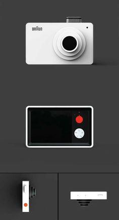 Minimalist product design. #SimpleCamera #SimpleObject #Minimalist Homage to Dieter Rams by Kim Seongjin