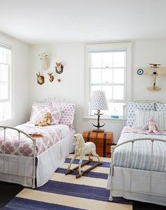 Genial Twin Beds   David A. Land Photography