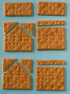 A Terrific Tutorial On How To Make A Graham Cracker Gingerbread House With Your Kids. Uses Melted White Chocolate Instead Of Icing