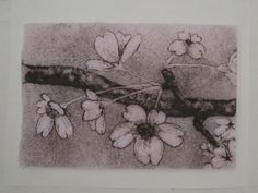 Fused Glass Powder Sgraffito Painting Sketch of Cherry Blossoms Sakura Slumped Glass, Fused Glass, Sakura Cherry Blossom, Cherry Blossoms, Melting Glass, Sgraffito, Marceline, Glass Design, Pencil Drawings