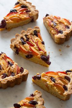 Red Apricot and Sweet Cherry Tart with a Cashew Frangipane