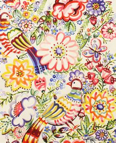 Alexander Henry Talavera Garden in Multi  Fat by BobbieLouFabric, $3.00