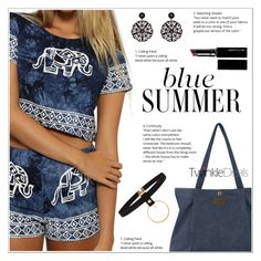 """Blue Summer"" by shambala-379 ❤ liked on Polyvore featuring Witchery, Summer, Blue, summerstyle, chokers and twinkledeals"