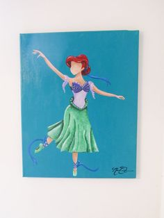 I just posted a really beautiful painting thay I made inspired by Princess Ariel from Disneys the Little Mermaid. Availabe now here on my  Etsy listing at https://www.etsy.com/listing/201005688/princess-ariel-disney-inspired-ballet