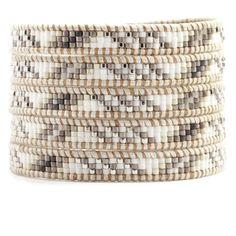 Chan Luu - White Mix Wrap Bracelet on Beige Leather, $210.00 (http://www.chanluu.com/wrap-bracelets/white-mix-wrap-bracelet-on-beige-leather/)