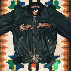 WEBSTA @ backbite_ - The perfect perforated leather Harley Davidson bomber just landed in new arrivals!