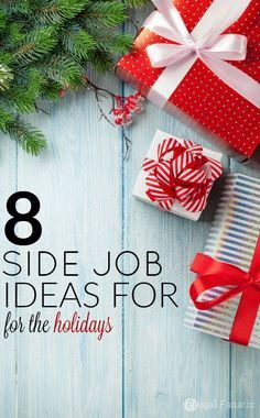 Need some extra cash for the holidays? Check out these 8 side job ideas that you can do to earn extra money and help pay for the holidays. make extra money, ideas to make extra money