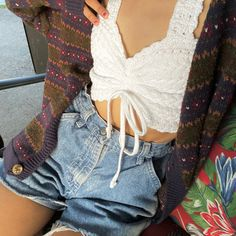 Cute Casual Outfits, Pretty Outfits, Summer Outfits, Look Fashion, Fashion Outfits, Look Cool, Aesthetic Clothes, Fitspo, Shorts