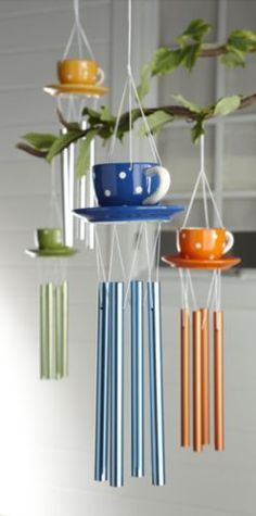 Teacup Wind Chime from Ginny's ®  I like small tinkling wind chimes.  I call it fairy music. :)