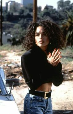 Zoe looks SO MUCH like THIS picture! Lisa Bonet. Slaying as always.