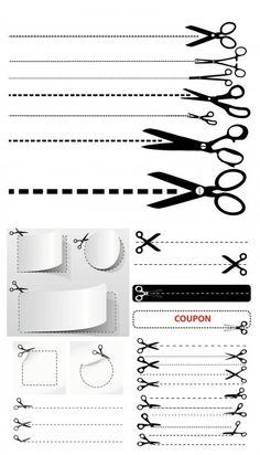 cutting scissors vector 450x787 切り取り線にもこだわってみたい!ハサミのベクター素材集(EPS) Free Style