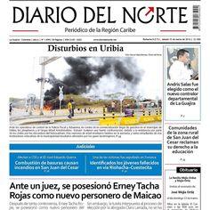 Nuestra portada sabatina en circulación por toda La Guajira. by diariodelnorte