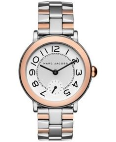 Marc Jacobs Riley Two-Tone Stainless Steel Three-Hand Bracelet Watch e076c0a25c3