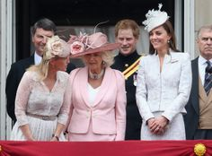 Kate Middleton Camilla Parker Bowles Photos: Queen Elizabeth II's Birthday Parade: Trooping The Colour Kate Middleton Queen, Kate Middleton Photos, Princess Kate, Princess Charlotte, Duchess Of Cornwall, Duchess Of Cambridge, Queen Elizabeth Ii Birthday, Royal Uk, Camilla Parker Bowles