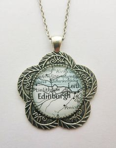 Edinburgh Scotland Map Pendant Highlands Antique Silver Scotland Map, Edinburgh Scotland, Heavy Water, Large Envelope, Small Gift Bags, Water Activities, Highlands, Antique Silver, Pendant Necklace