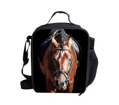 Cute Animal Horse Outdoor Cooler Thermal Waterproof Lunch Bag Tote Box Container #BIGCAR