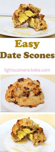 Easy Date Scones are light and fluffy and packed full of dates. Top with butter and runny honey and you have yourself the best brunch you could ever wish for. Baking Recipes, Dessert Recipes, Baking Desserts, Baking Breads, Baking Cookies, Tofu Recipes, Healthy Recipes, Healthy Treats, Yummy Recipes
