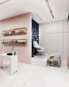 Home Nail Salon, Nail Salon Design, Nail Salon Decor, Hair Salon Interior, Spa Interior, Beauty Salon Decor, Salon Interior Design, Beauty Salon Design, Beauty Studio