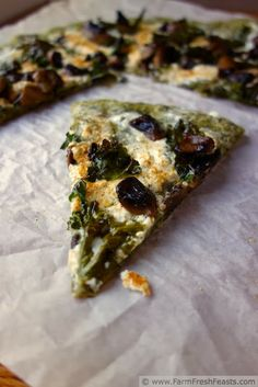 Spicy Kale Pizza Dough with Mushrooms and Cheese   Farm Fresh Feasts