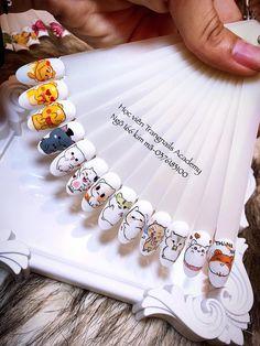Classy Almond Nails, Sculpted Gel Nails, Mickey Nails, Kawaii Nail Art, Diamond Nail Art, Nail Drawing, Cow Nails, Nail Art Designs Videos, Acrylic Nail Shapes