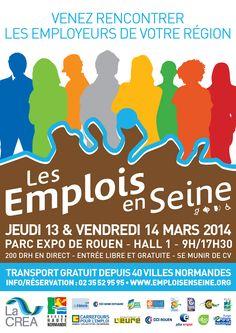 Les emplois en Seine fêtent leur 10 ans, les 13 & 14 mars au Parc expo.