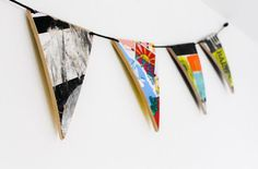 Thrashion recycled skateboard bunting made from by thrashion Skateboard Tape, Skateboard Design, Skateboard Decks, Bunting Banner, Banners, Skateboards, Snowboard, Trending Outfits, Wood Working