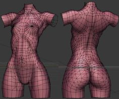 Zbrush: Creating woman torso from Zspheres step by step technique by Sze Jones 3d Model Character, Character Modeling, Character Art, Character Design, Zbrush Anatomy, Anatomy Drawing, Anatomy Art, Human Body Anatomy, Anatomy For Artists
