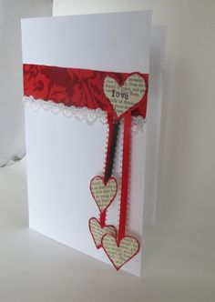 Elegant Valentine's Day card by InkyAshley on Etsy