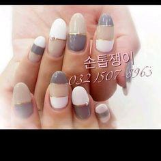 Korean Nail Art, Korean Nails, Garra, Super Cute Nails, Line Design, Nail Arts, Nail Art Designs, Nail Polish, Art Inspo