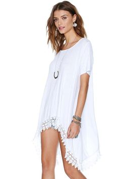 Summer White Cover up / Top  Casual Cute! Easy Style