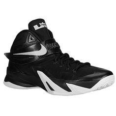 Nike Mens Zoom Soldier VIII TB Basketball Shoes BlackMetallic SilverWhite  653648001 Size 10 ** You