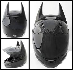 batman motorcycle helmet..(pinner said WANT NOW....I'll get the motorcycle later.) funny 325.00 at helmetdawg.com