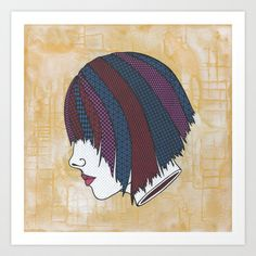 Heads Will Roll (Orange) Art Print by Summer Romasco - $25.00
