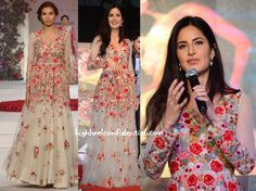 Katrina Kaif in Varun Bhal Love Love LOVE the dress! I'm such a sucker for embroidery and flowers