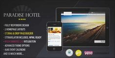 Download and review of Paradise Hotel - Responsive WordPress Hotel Theme, one of the best Themeforest Retail themes