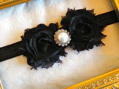 Black Chiffon Bow