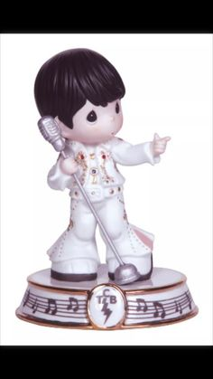 Elvis Presley  - Precious Moments Takin Care of Business Figurine New In Box