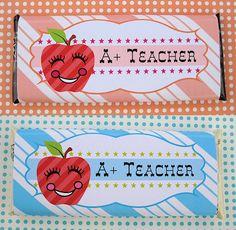 teacher candy wrapper