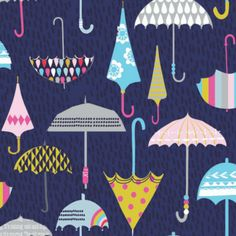 Stephanie's second collection for Dashwood Studio, Rain or Shine?, is a fun playful collection featuring raindrops, clouds, umbrellas, rainbows and sunshines