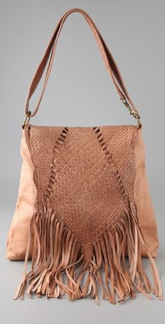 Fine woven leather and a bit of a fringe, #MidnightBoheme #SS14 Trend Inspiration