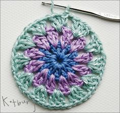 Transcendent Crochet a Solid Granny Square Ideas. Inconceivable Crochet a Solid Granny Square Ideas. Crochet Art, Crochet Round, Love Crochet, Crochet Motif, Beautiful Crochet, Crochet Crafts, Crochet Projects, Crochet Pillow, Crochet Blocks