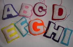 Bogstaver til alfabetet - letters the Alphabet something in felt