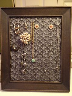 knitted jewelry frame