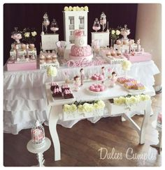 Shabby chic Baptism Party Ideas | Photo 8 of 22 | Catch My Party